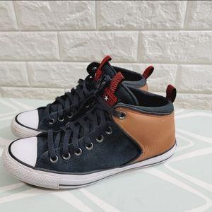 Converse chunk Taylor street high top sneaker.